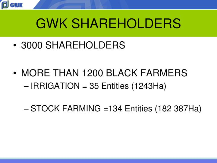 GWK SHAREHOLDERS