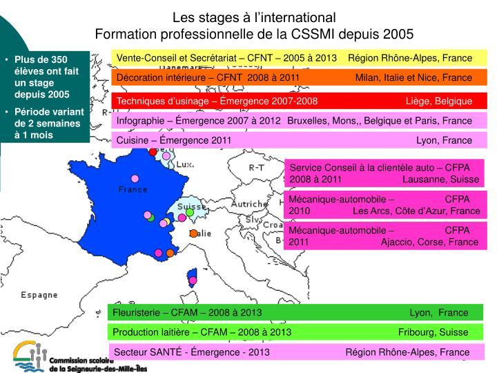 Vente-Conseil et Secrétariat – CFNT – 2005 à 2013Région Rhône-Alpes, France