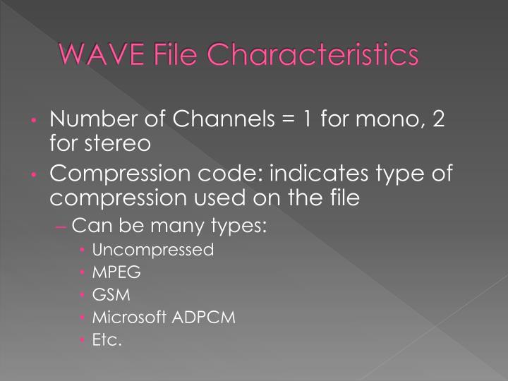 WAVE File Characteristics