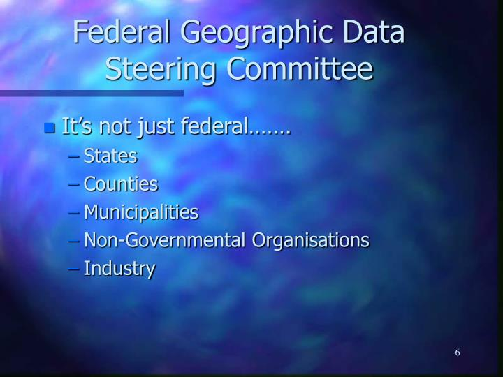 Federal Geographic Data Steering Committee