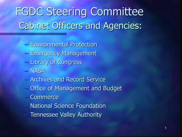 FGDC Steering Committee