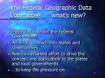 the federal geographic data committee what s new