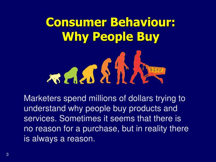 Consumer behaviour why people buy