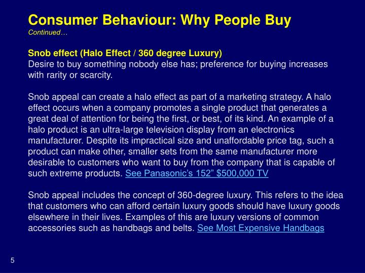 Consumer Behaviour: Why People Buy