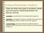 ecological relationships symbiosis