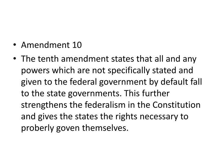 Amendment 10