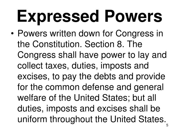 Expressed Powers