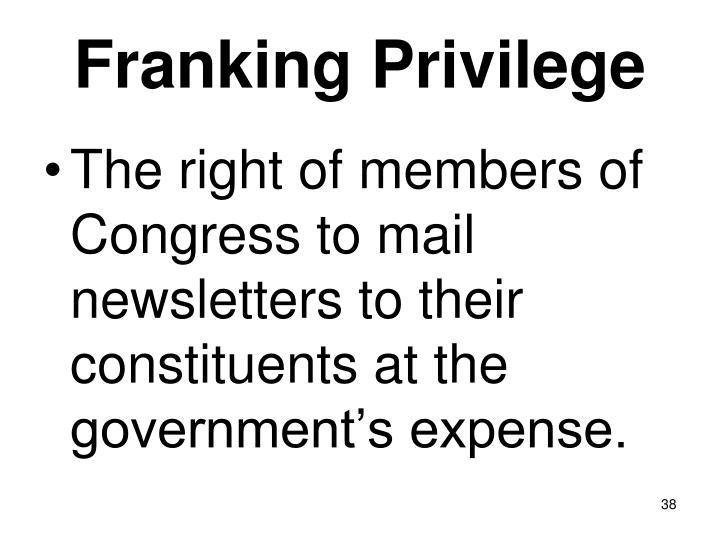 Franking Privilege
