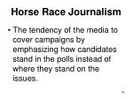 horse race journalism