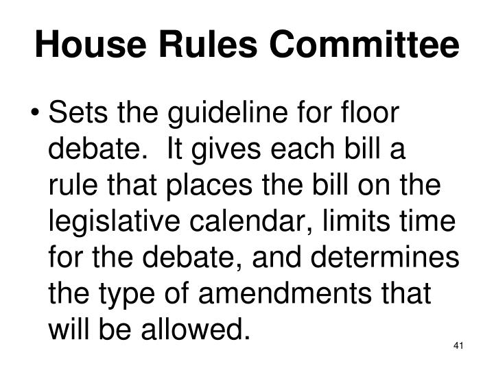 House Rules Committee