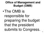 office of management and budget omb