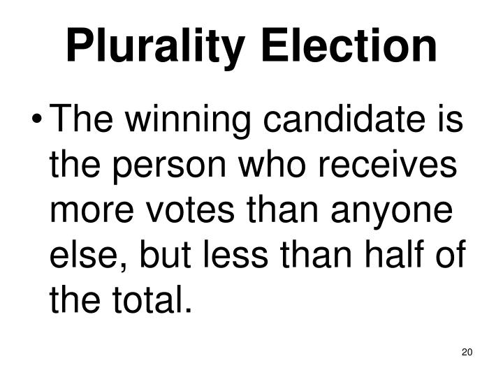 Plurality Election