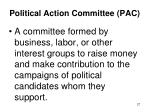 political action committee pac