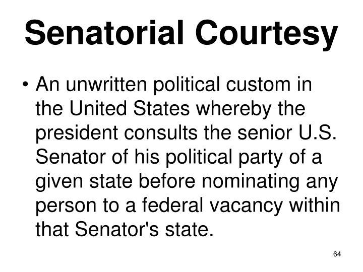 Senatorial Courtesy