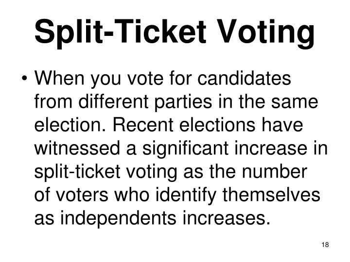 Split-Ticket Voting