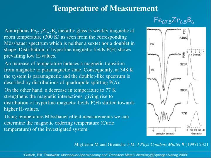 Temperature of Measurement