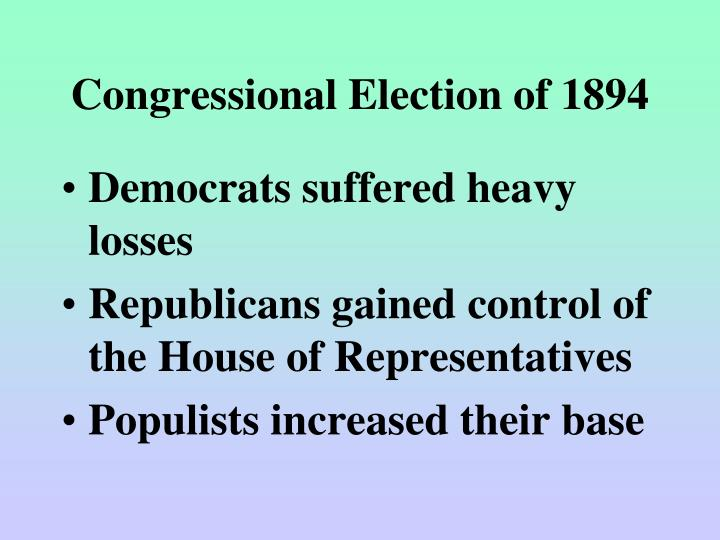Congressional Election of 1894
