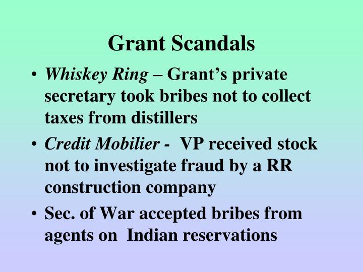 Grant Scandals