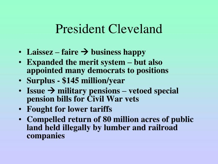 President Cleveland