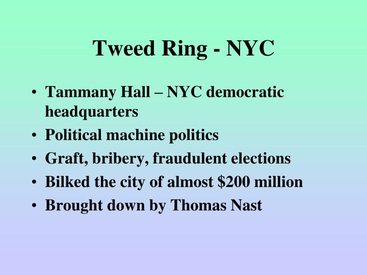 Tweed Ring - NYC