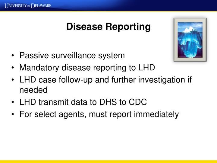 Disease Reporting