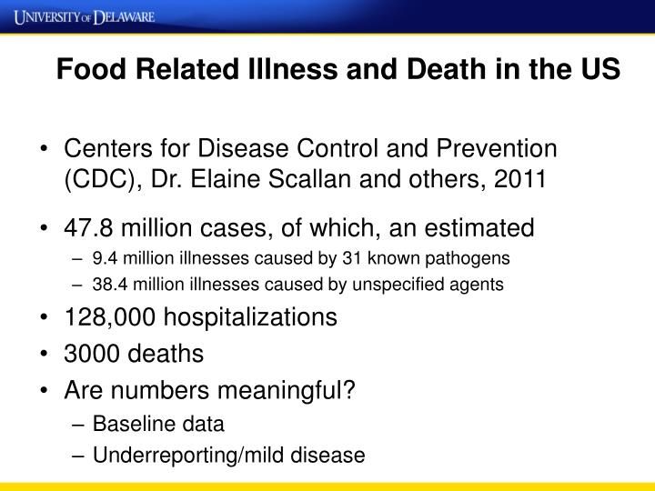 Food related illness and death in the us
