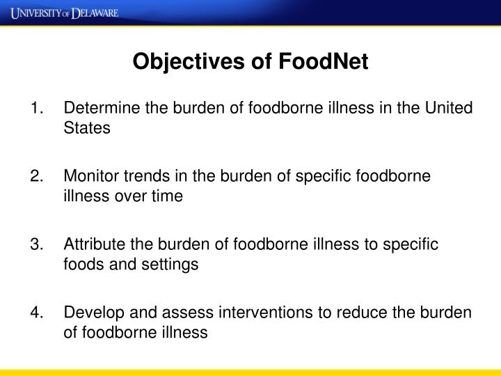 Objectives of FoodNet