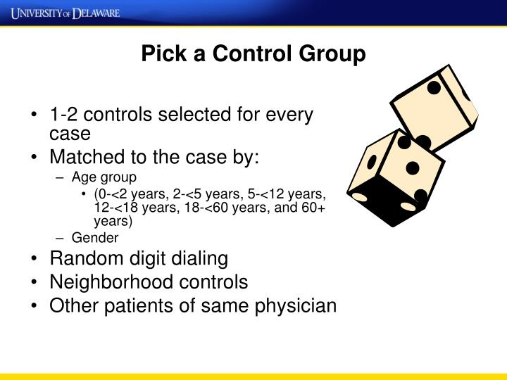 Pick a Control Group
