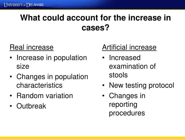 What could account for the increase in cases?