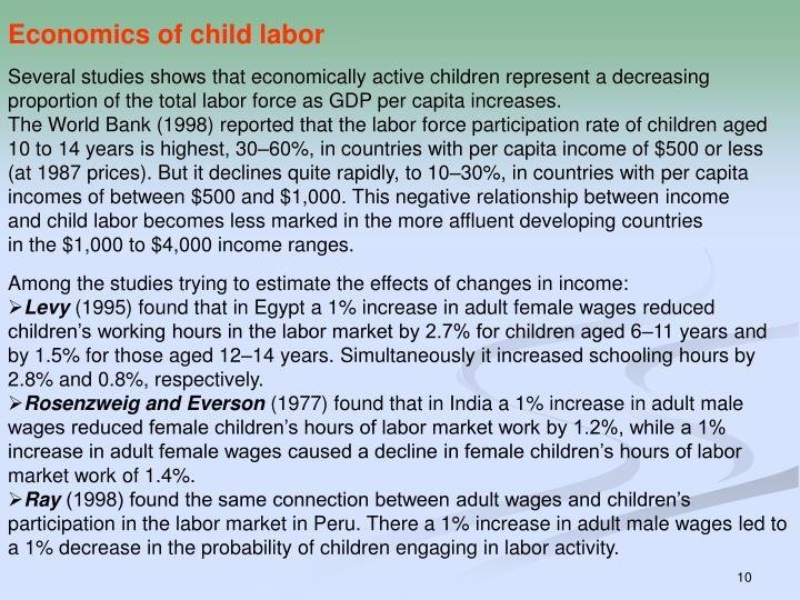 Economics of child labor