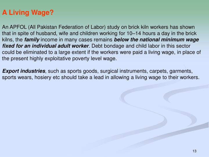 A Living Wage?