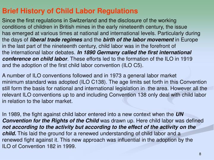 Brief History of Child Labor Regulations