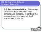 iii recommendations student support2