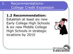 recommendations college credit expansion2