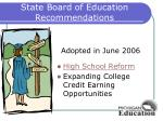 state board of education recommendations1