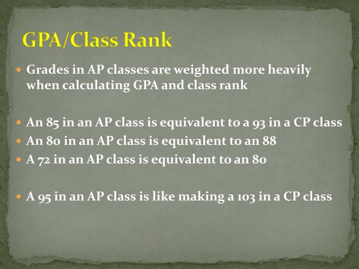 GPA/Class Rank