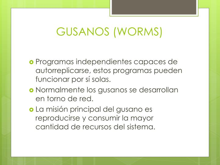 GUSANOS (WORMS)
