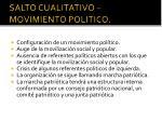 salto cualitativo movimiento politico
