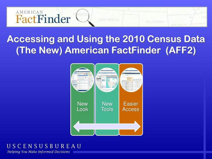 Accessing and Using the 2010 Census Data