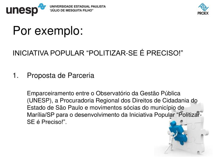 """INICIATIVA POPULAR """"POLITIZAR-SE É PRECISO!"""""""