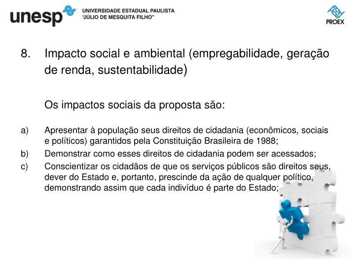 Impacto social e