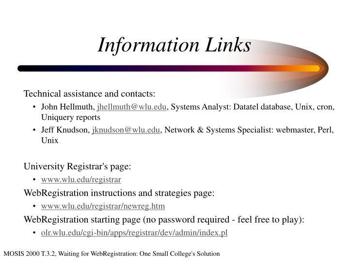 Information Links