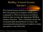 webreg central systems interface