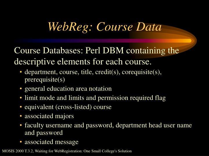 WebReg: Course Data