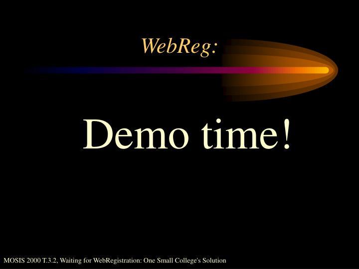 WebReg: