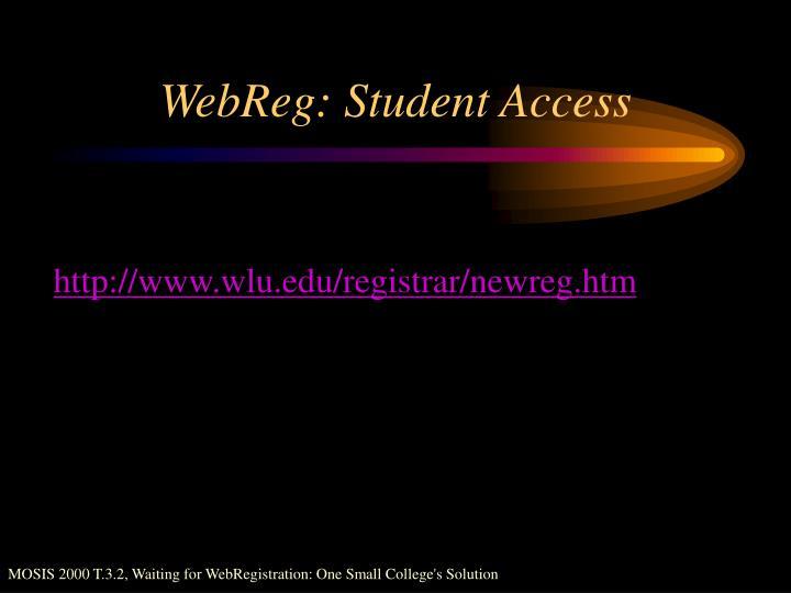 WebReg: Student Access