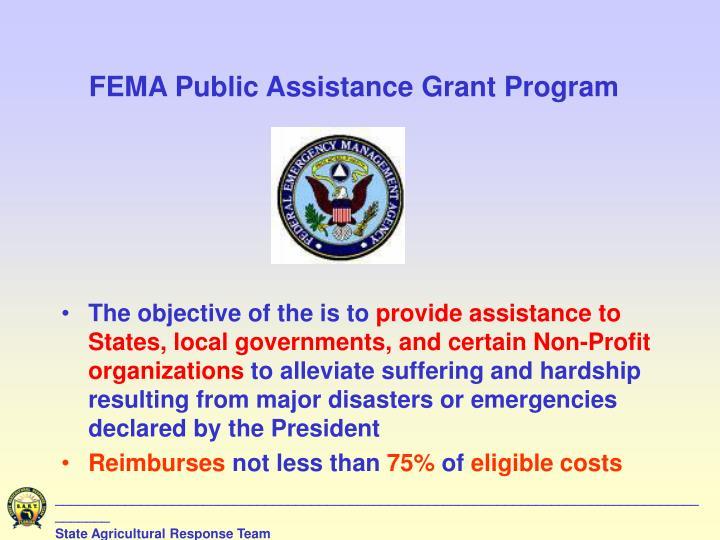 FEMA Public Assistance Grant Program