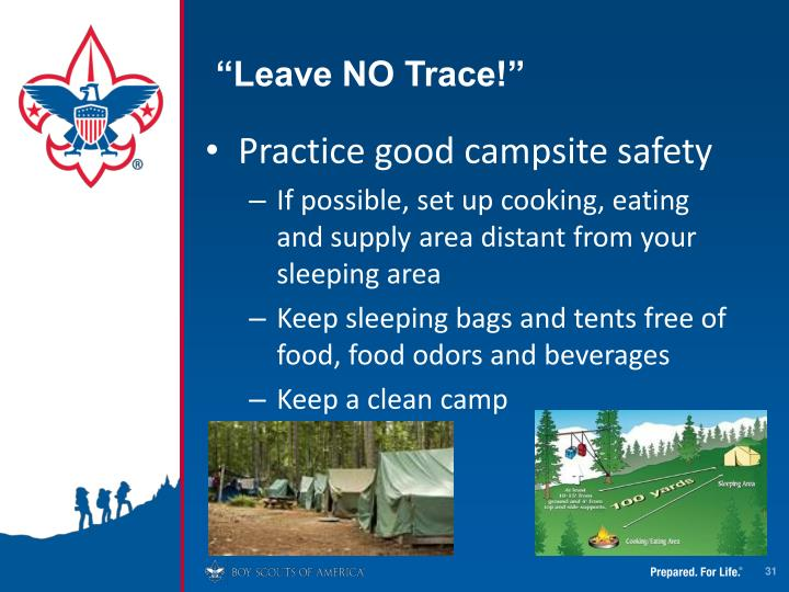 """Leave NO Trace!"""