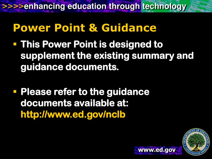 Power point guidance