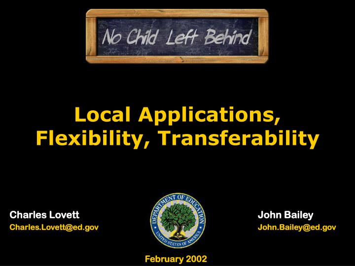 Local Applications,